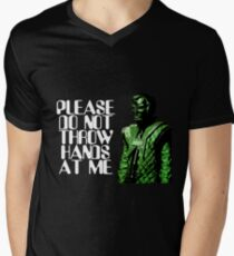 Please Do Not Throw Hands At Me Mens V-Neck T-Shirt