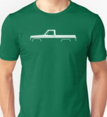 Truck Silhouette - for Chevrolet C10 short bed pickup 3rd Gen 1973-1987 enthusiasts Unisex T-Shirt