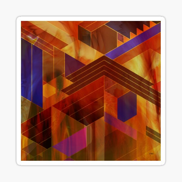 Wrightian Reflections (Square Version) - By John Robert Beck Sticker