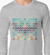 Watercolor Chevron Pattern Long Sleeve T-Shirt