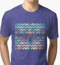 Watercolor Chevron Pattern Tri-blend T-Shirt