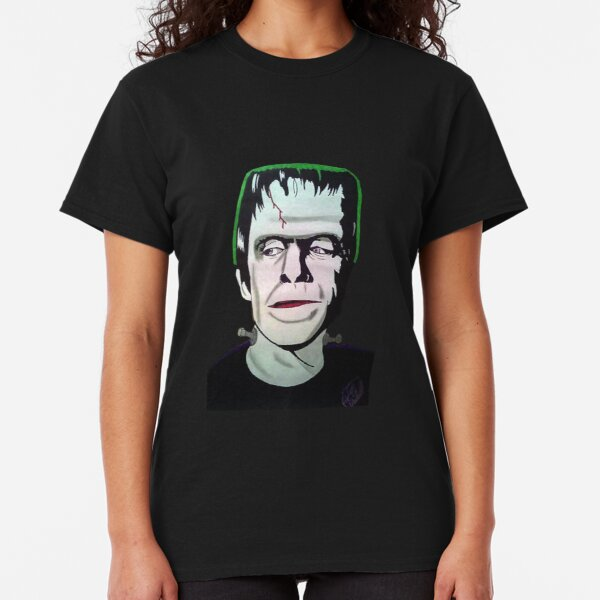 Men/'s Grey The Munsters Herman/'s Head T-Shirt Halloween Goth Punk 60/'s TV Show