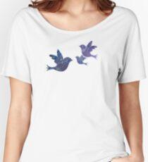 Watercolor Blue Birds Women's Relaxed Fit T-Shirt
