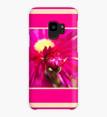 Hot Pink Ice Plant/Pigface Flower Case/Skin for Samsung Galaxy