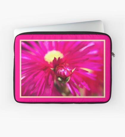 Hot Pink Ice Plant/Pigface Flower Laptop Sleeve