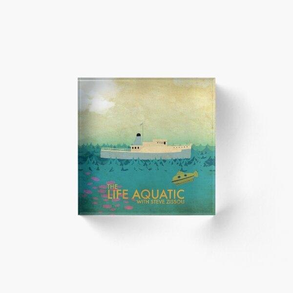 The Life Aquatic Film Poster Acrylic Block