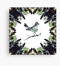 Wildlings Series - Little Bird Blue Canvas Print