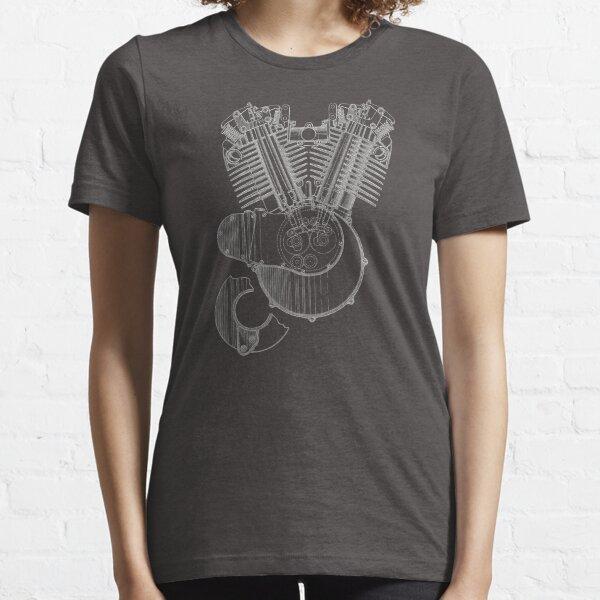 V-twin Engine (White) Essential T-Shirt