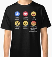 Funny I Love Biking Emoji T-Shirt Designs Classic T-Shirt