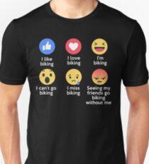 Funny I Love Biking Emoji T-Shirt Designs T-Shirt