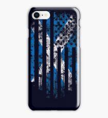 Scotland and America Flag Combo Distressed Design iPhone Case/Skin