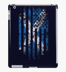 Schottland und Amerika Flagge Combo Distressed Design iPad-Hülle & Klebefolie