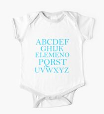 ALPHABET SONG Kids Clothes