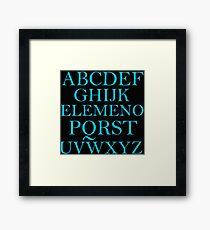 ALPHABET SONG Framed Print