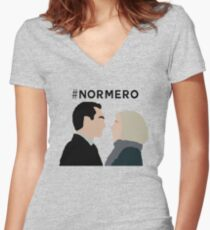 NORMERO Women's Fitted V-Neck T-Shirt