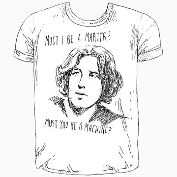 Oscar Wilde t-shirt tee by Jeremyblog