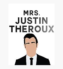 MRS. JUSTIN THEROUX Photographic Print