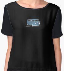 VW Bus T2 Transporter Blue Hippie Van Women's Chiffon Top