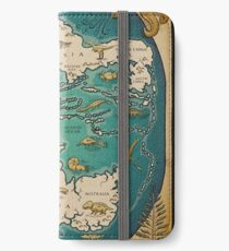 map of the supercontinent Pangaea iPhone Wallet/Case/Skin