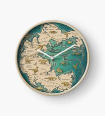 map of the supercontinent Pangaea Clock