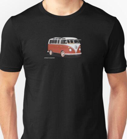 VW Bus T2 Samba Red White Hippie Van T-Shirt