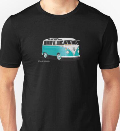 VW Bus T2 Teal White Hippie Van T-Shirt