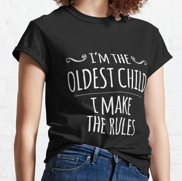 Oldest Youngest Kids Youth Tshirt Rules Sibling Matching Tee Boys Girls T-SHIRT
