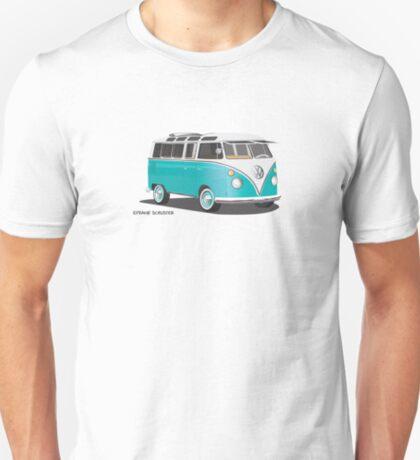 VW Bus T2 Teal Blk VW Hippie Van T-Shirt