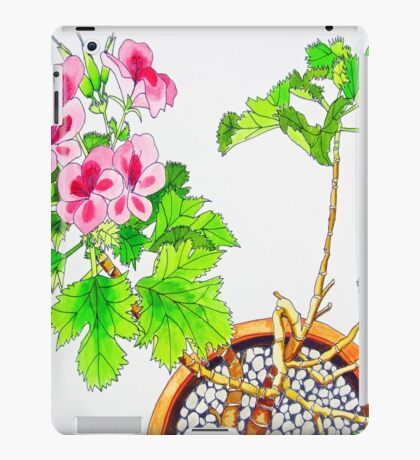 Pink Geraniums iPad Case/Skin