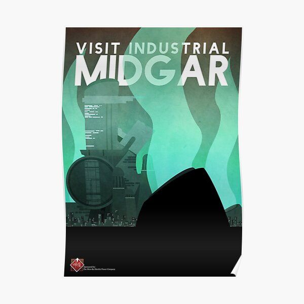 Midgar Travel Poster Poster