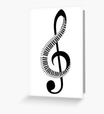 piano, note Greeting Card