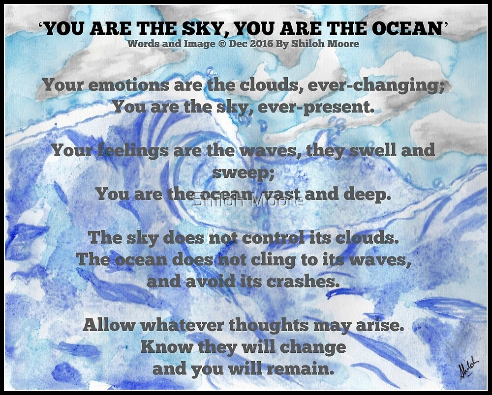 'You Are The Sky, You Are The Ocean' by Shiloh Moore