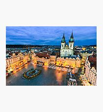 The Old Town Square in Prague Photographic Print