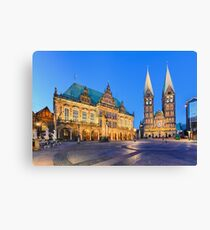 City Hall and the Cathedral of Bremen Canvas Print