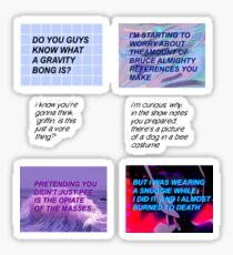 Mcelboys quotes -- STICKERS Sticker