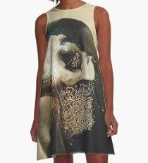 Fur Seal A-Line Dress