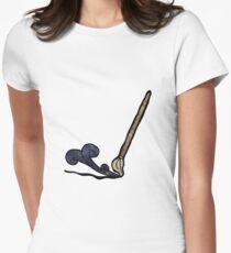 cartoon calligraphy brush Womens Fitted T-Shirt