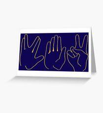 Spock, Paper, Scissors Greeting Card