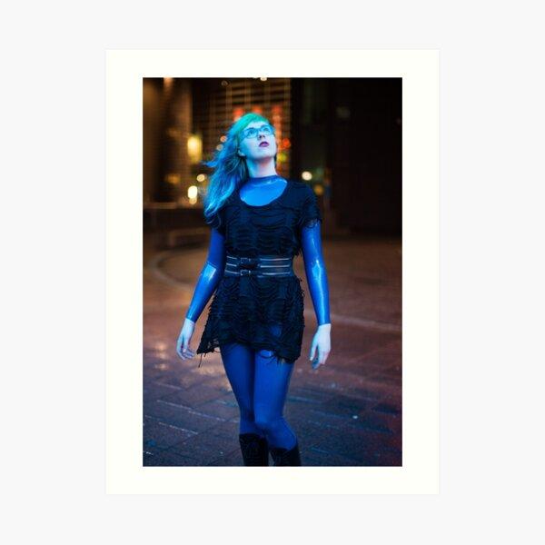 Project L: Blue light above Art Print