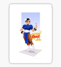 Street fighter 2 - Chun Li Sticker