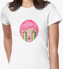 Over the Clouds Womens Fitted T-Shirt