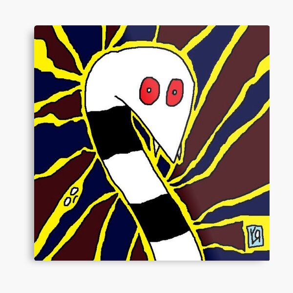 """Snake Freaks Out"" by Richard F. Yates Metal Print"