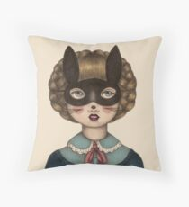 Ceremony - Masked Bunny lass Throw Pillow