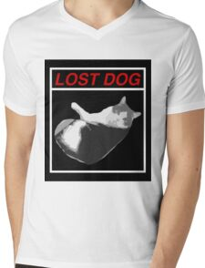 Lost Dog Mens V-Neck T-Shirt