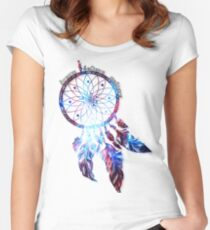Dreamcatcher Apparel, Mugs Cute Dreaming Fearless Soft Screen Printed Summer Graphic Gift Tshirt Women's Fitted Scoop T-Shirt