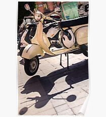 An old Vespa scooter Poster