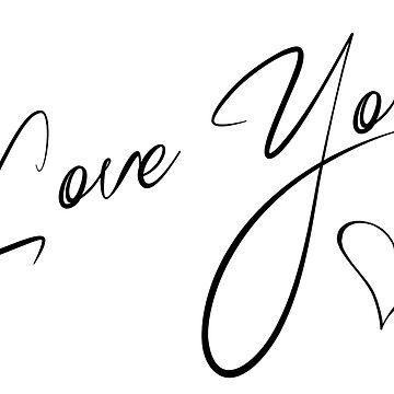Love You - Valentines Mug Tshirt or Cushion by WaffleOnDesigns