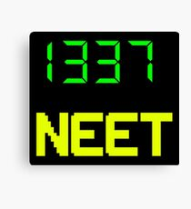 1337 NEET / LEET NEET - Anime - Otaku - Geek - Retro Gaming - Digital Design Canvas Print