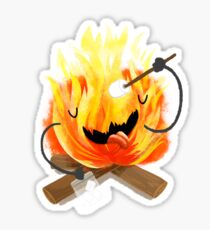happy campfire Sticker