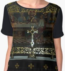 Cross & Candles Women's Chiffon Top
